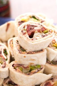 closeup photo of taco pinwheel