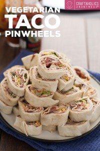 Vegetarian Taco Pinwheels at Craftaholics Anonymous