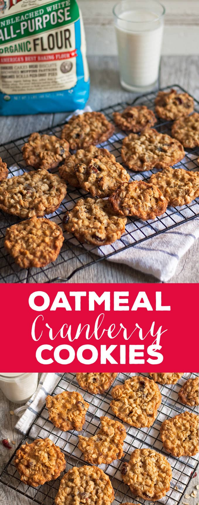 oatmeal cranberry cookies pin