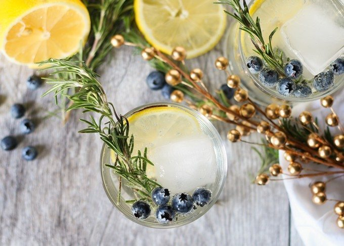 lemon blueberry vodka spritzer picture