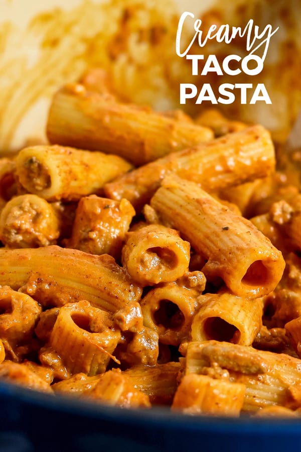 taco pasta image for pinterest