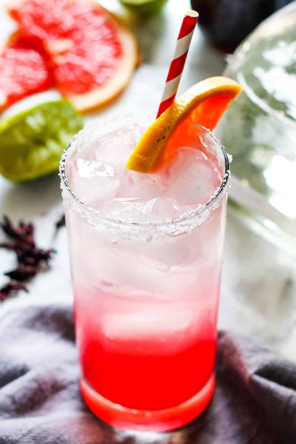 hibiscus paloma cocktail