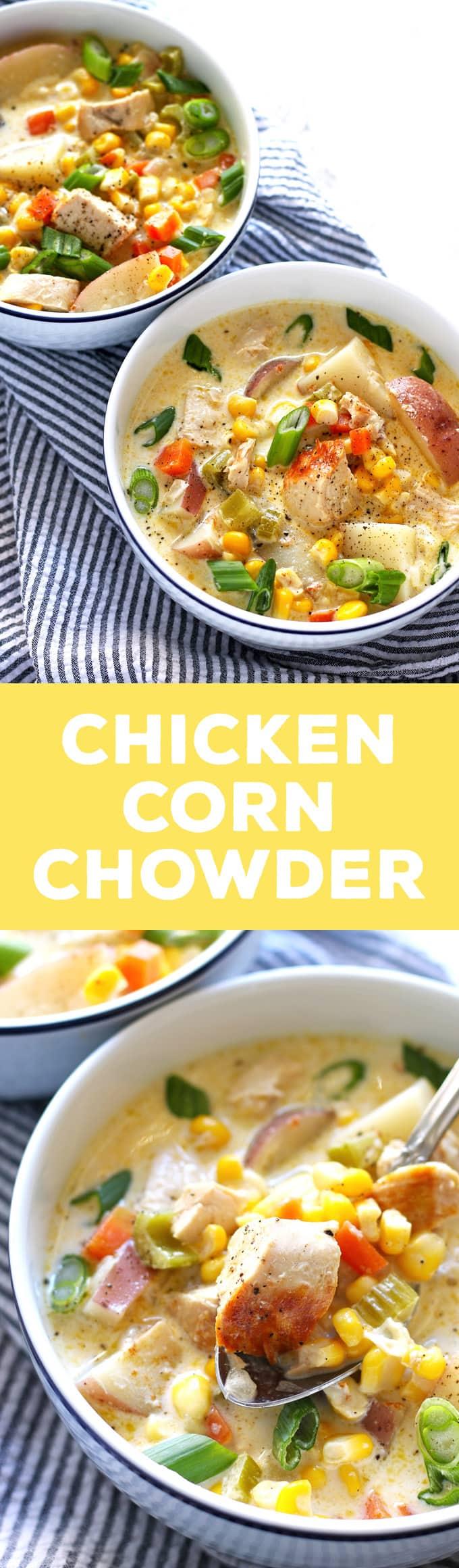 chicken corn chowder pin
