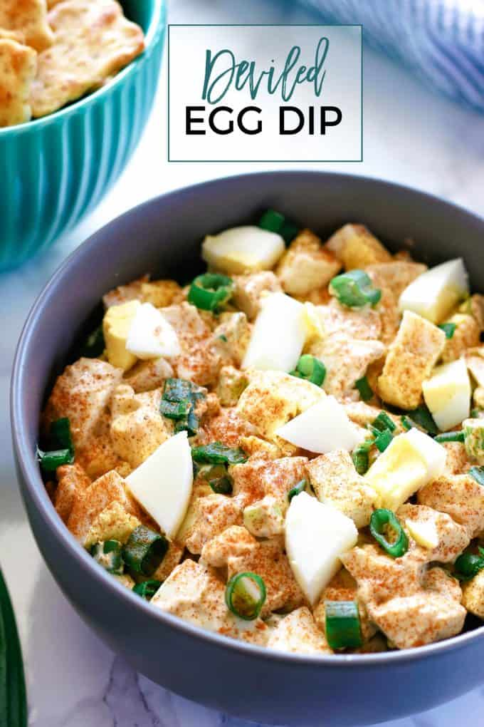 deviled egg dip pinterest image