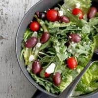 No-Recipe Greek Tossed Salad