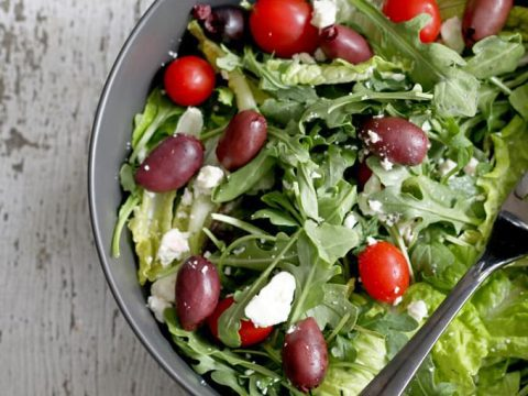 No Recipe Greek Tossed Salad The Thirsty Feast