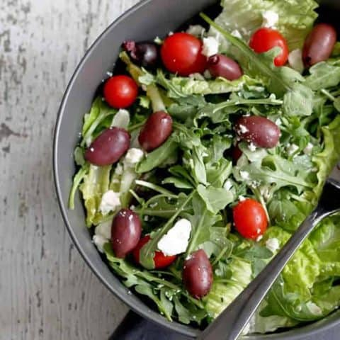 No recipe greek tossed salad | honeyandbirch.com