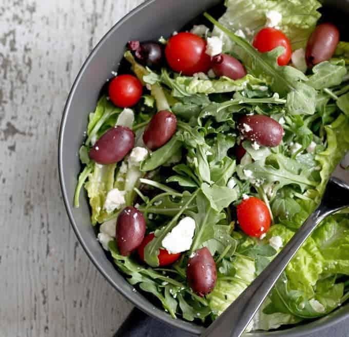 No recipe greek tossed salad | honeyandbirch.com