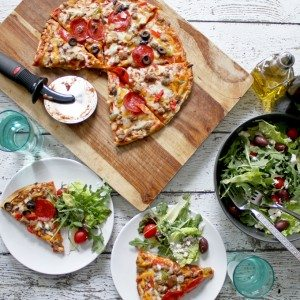 Pizza – A Timeless Tradition and a No-Recipe Greek Tossed Salad