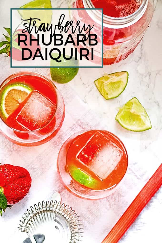 strawberry rhubarb daiquiri pinterest image