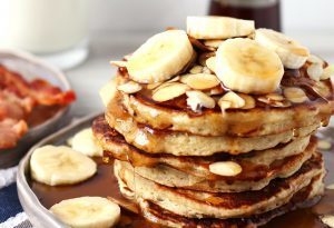 Banana Almond Pancakes