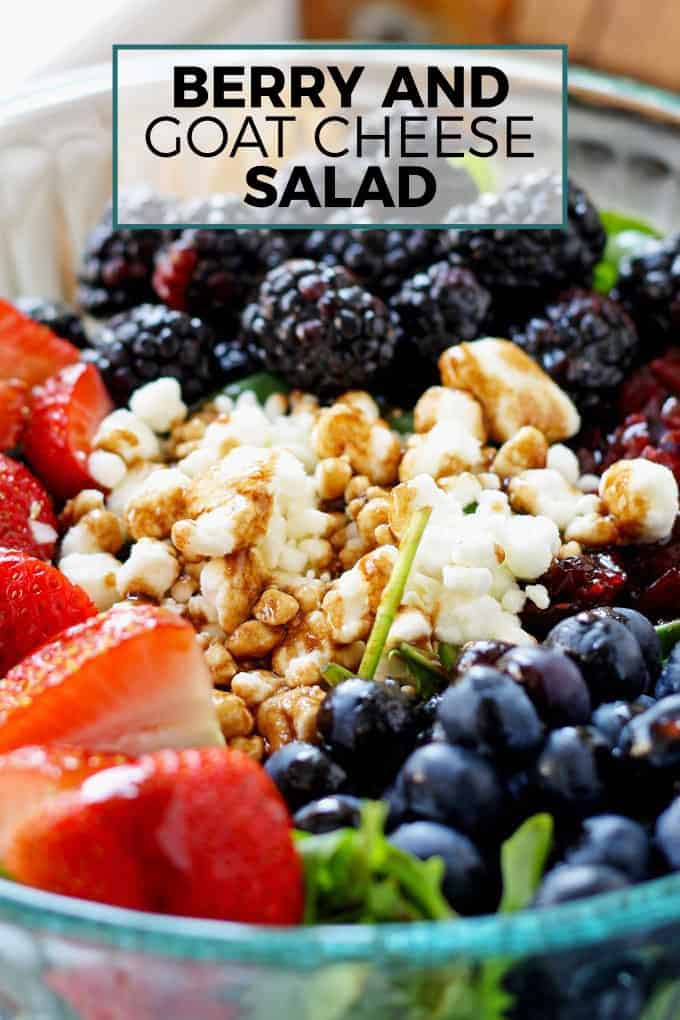 bowl of berry and goat cheese salad