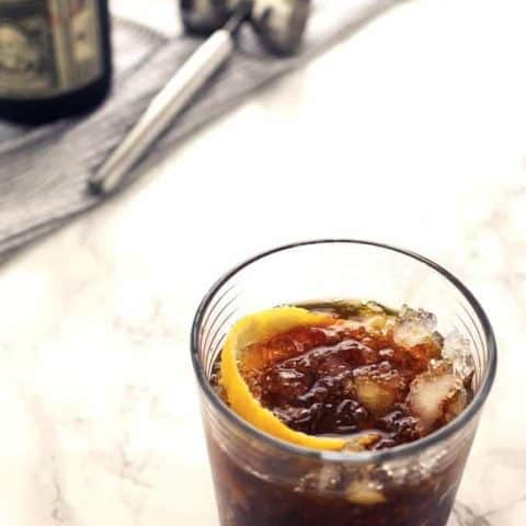 Black Stripe Cold Rum Cocktail