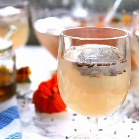 Boozy Honey Lavender Lemonade