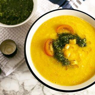Sweet Corn Yellow Tomato Soup