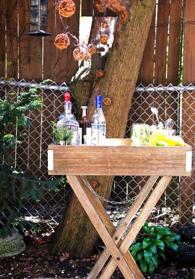 Outdoor Butler Tray Setups for World Market