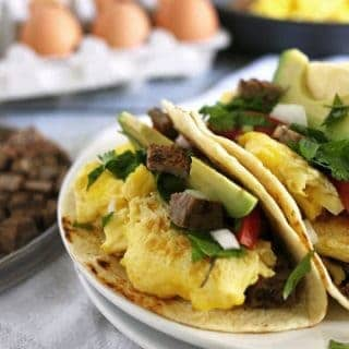 Steak and Egg Breakfast Tacos » The Thirsty Feast