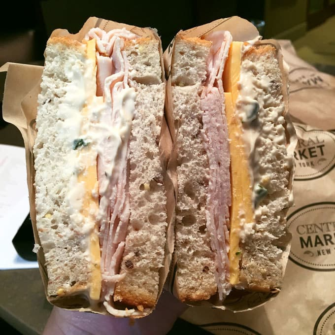 Central Market sandwich in Grand Central Station New York City | Miele Culinary Adventure