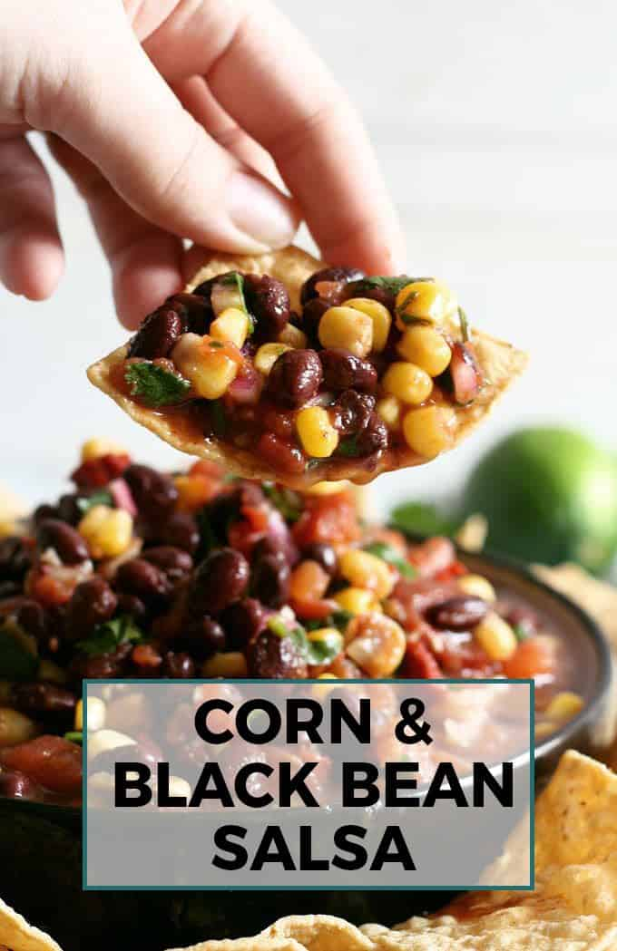 corn black bean salsa Pinterest image