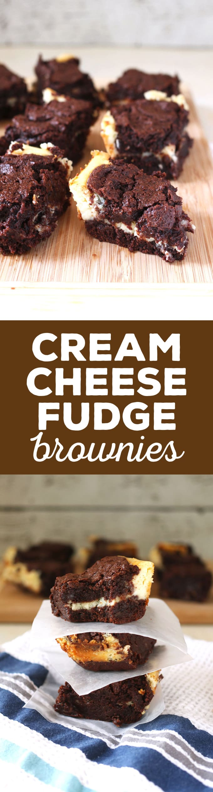 cream cheese fudge brownies pin