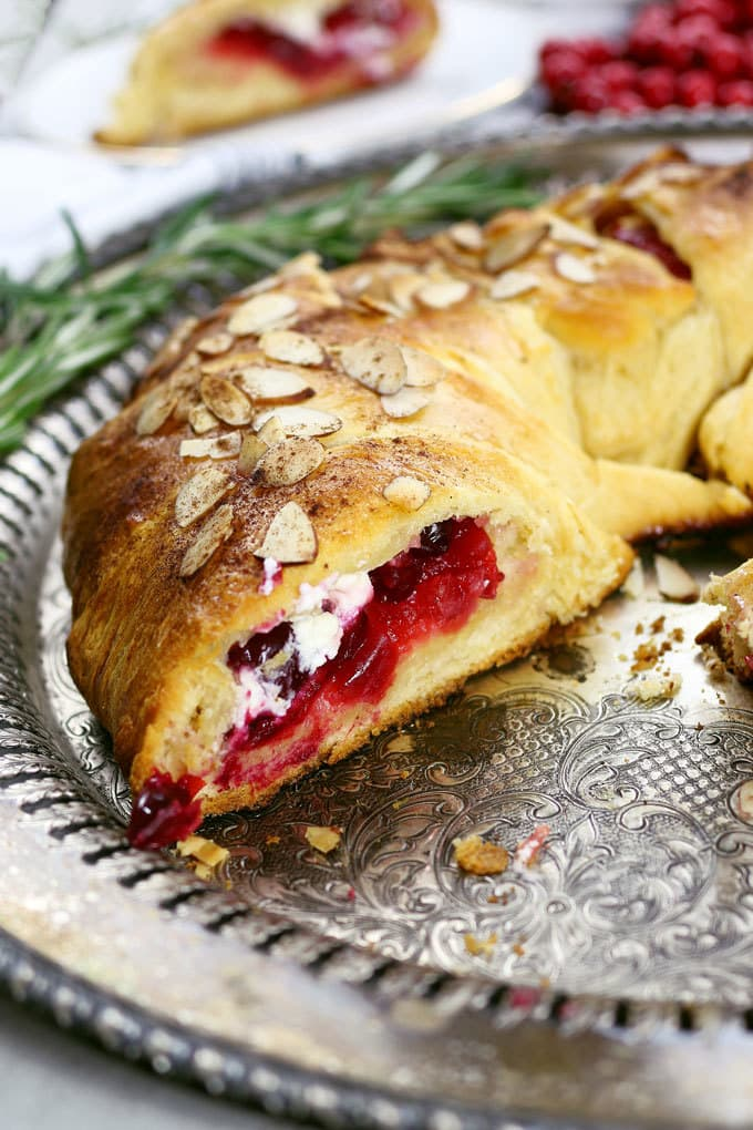 Cranberry Goat Cheese Crescent Ring PLUS Video!