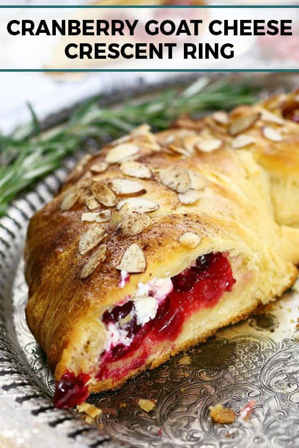 cranberry goat cheese crescent ring pinterest image