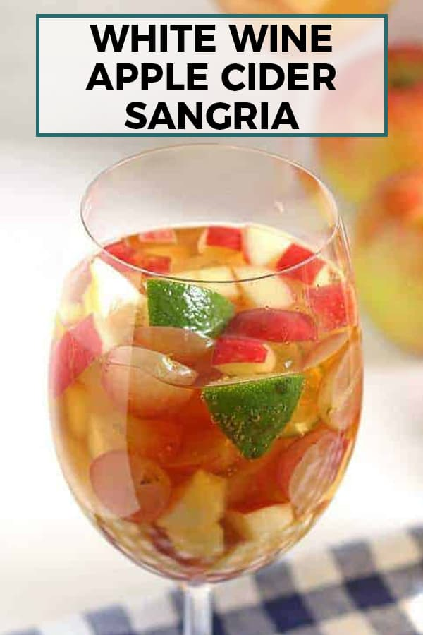 white wine apple cider sangria pinterest image
