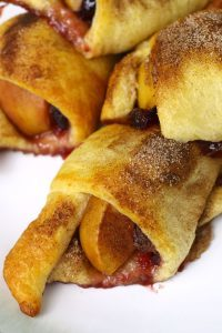 Apple cranberry crescent rolls