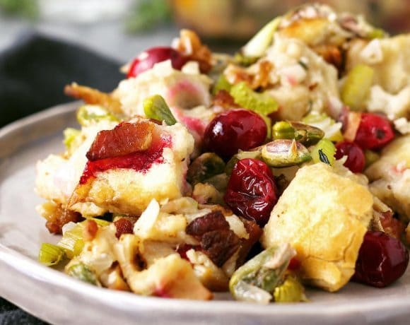 Bacon Cranberry Pistachio Dressing