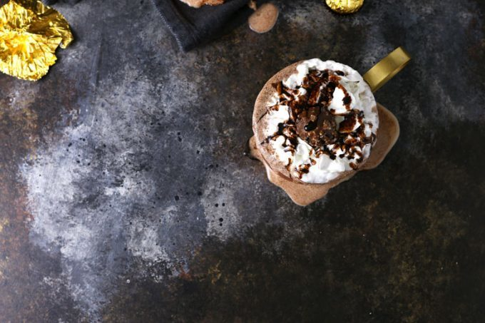 nutella Ferrero rocher milkshake picture