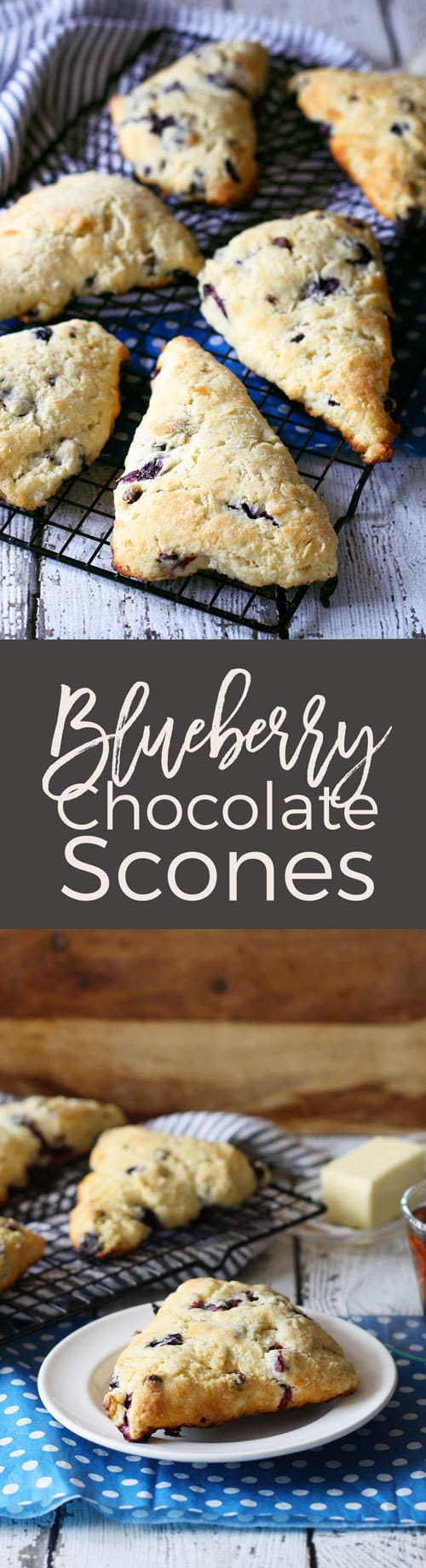 There's nothing better than morning's with a great cup of coffee and a blueberry chocolate scone. | honeyandbirch.com