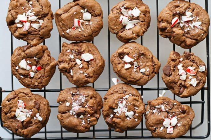 picture of double peppermint chocolate chip cookies