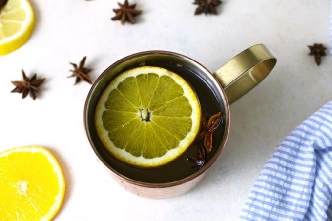 ginger citrus punch recipe in a cup