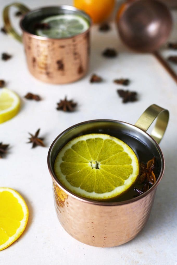 two cups of ginger citrus punch