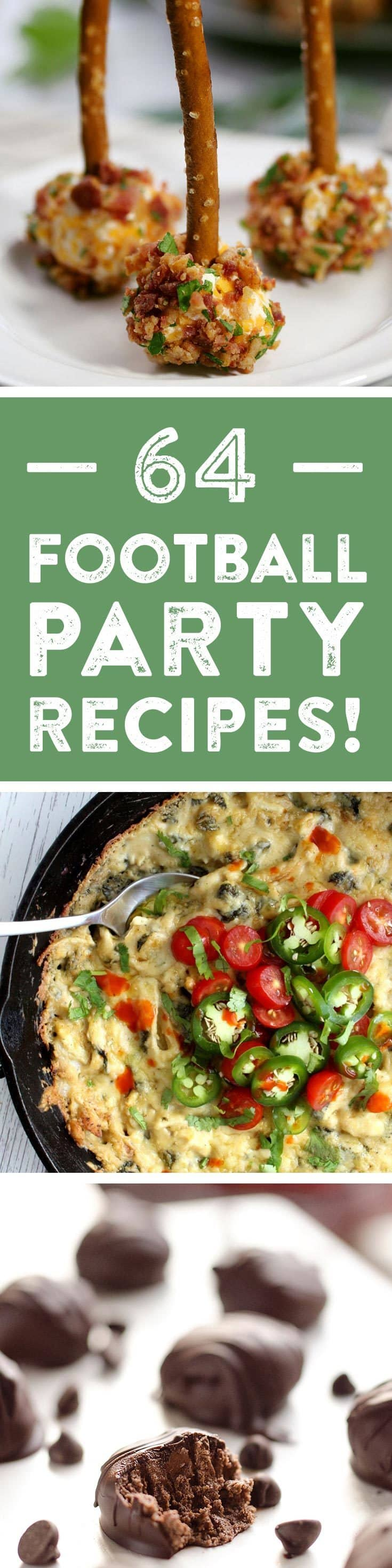 With the football season coming to a close, it's time to start thinking about Big Game parties and inevitably, the recipes you will make and bring to yours! In preparation, I've teamed up with my football blogger friends in one final collaboration to bring you some brilliant Big Game recipe ideas. We've made appetizers, entrees, desserts and even drinks. Prepare to be inspired!