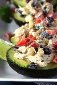 Southwest Chicken Salad Stuffed Avocado Recipe