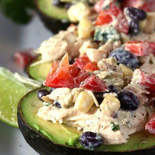 Southwest Chicken Salad Stuffed Avocado Recipe
