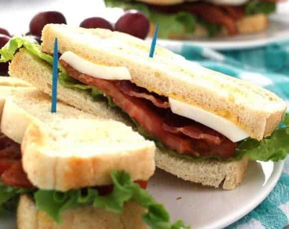 Deviled Egg BLT Sandwich