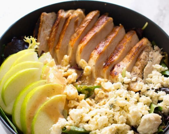 Grilled Chicken Apple Gorgonzola Salad Recipe