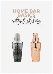 Every home bar needs a cocktail shaker. These are a few of my favorites, perfect for any bartender you know!