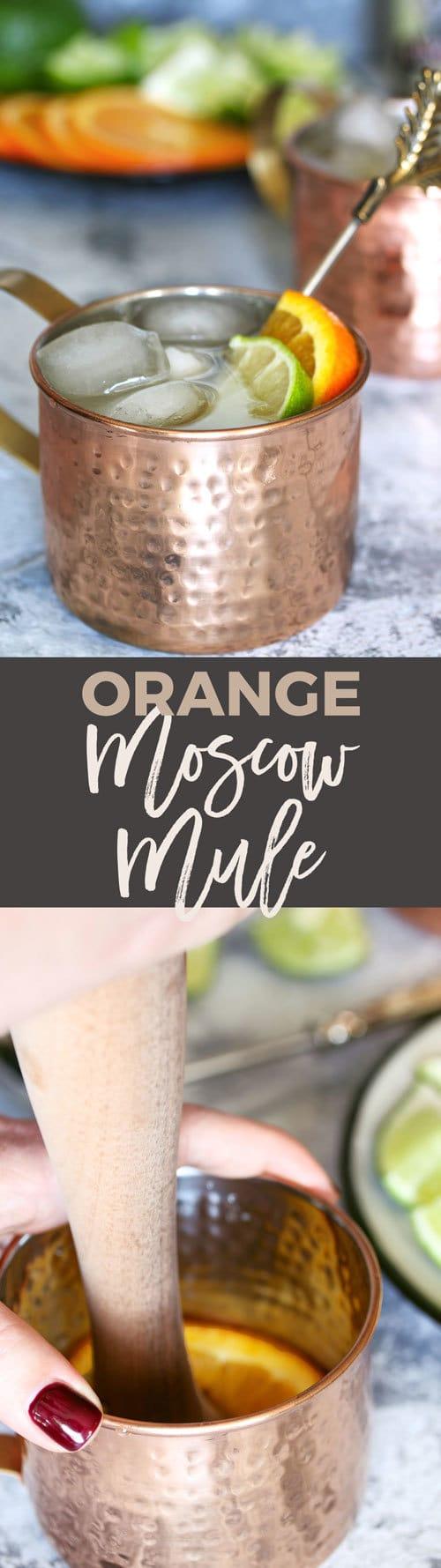 orange Moscow mule pin