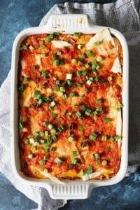 Bean Burrito Casserole