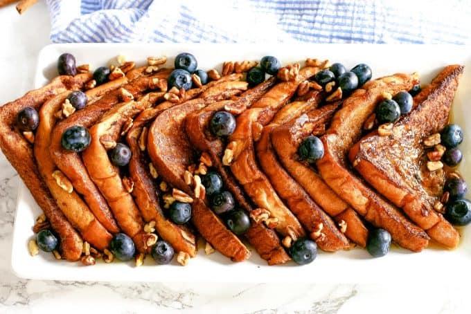 overhead photo of cinnamon French toast