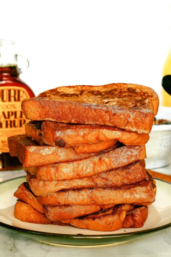 stack of freshly cooked cinnamon French toast