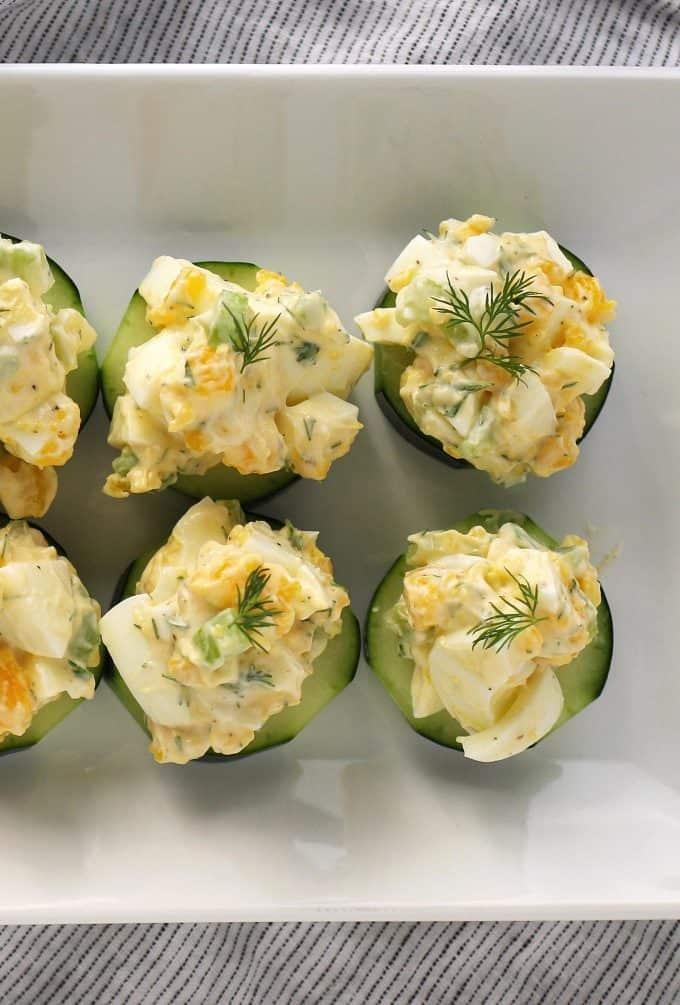 4 egg salad cucumber canapés