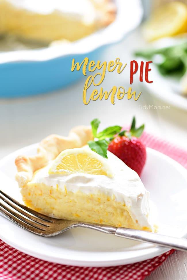 Mother's Day Brunch Meal Plan - Meyer Lemon Pie