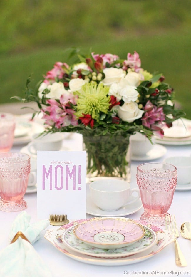 Mother's Day Brunch Meal Plan - Tablescape