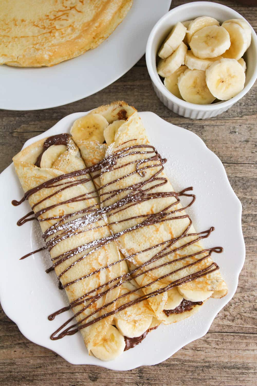 Mother's Day Brunch Meal Plan - Nutella Banana Crepes