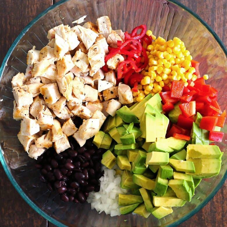 grilled chicken avocado salad ingredients
