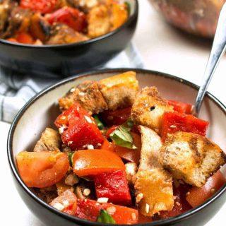 Grilled Watermelon Chicken Panzanella Salad